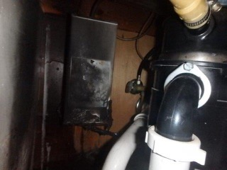 Electrical Fire Under Kitchen Sink - Deerfield Beach