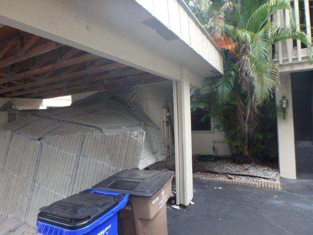 collapsed car port deerfield beach