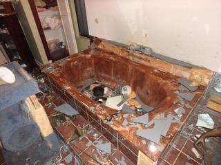 Fallen bathroom mirror Royal Palm Beach