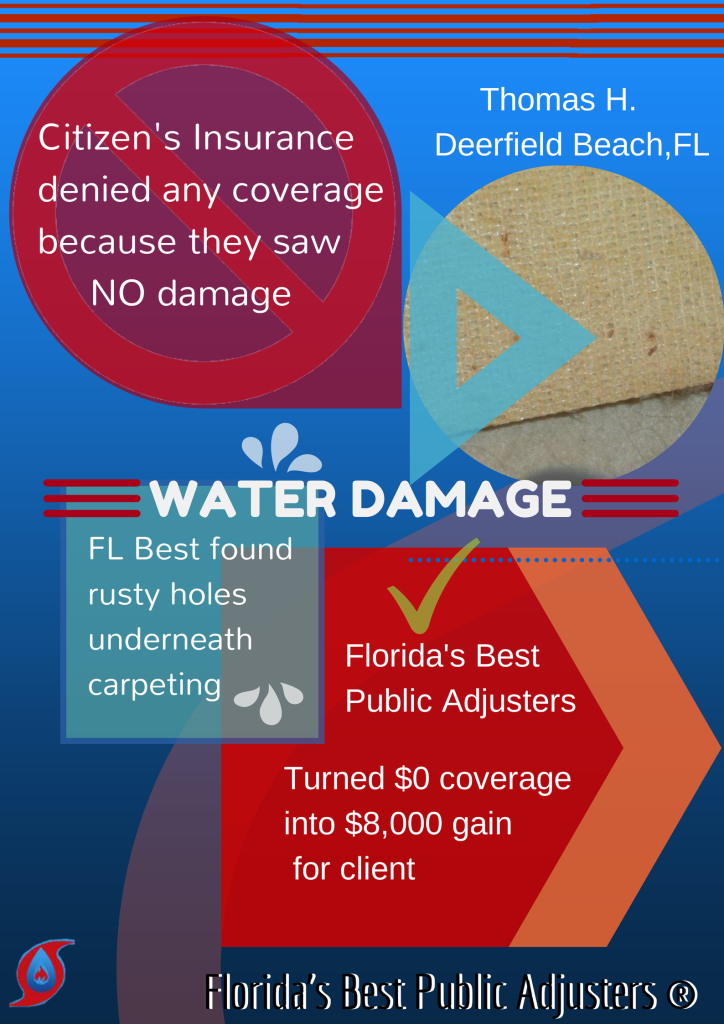 $8,000 Water Damage Claim