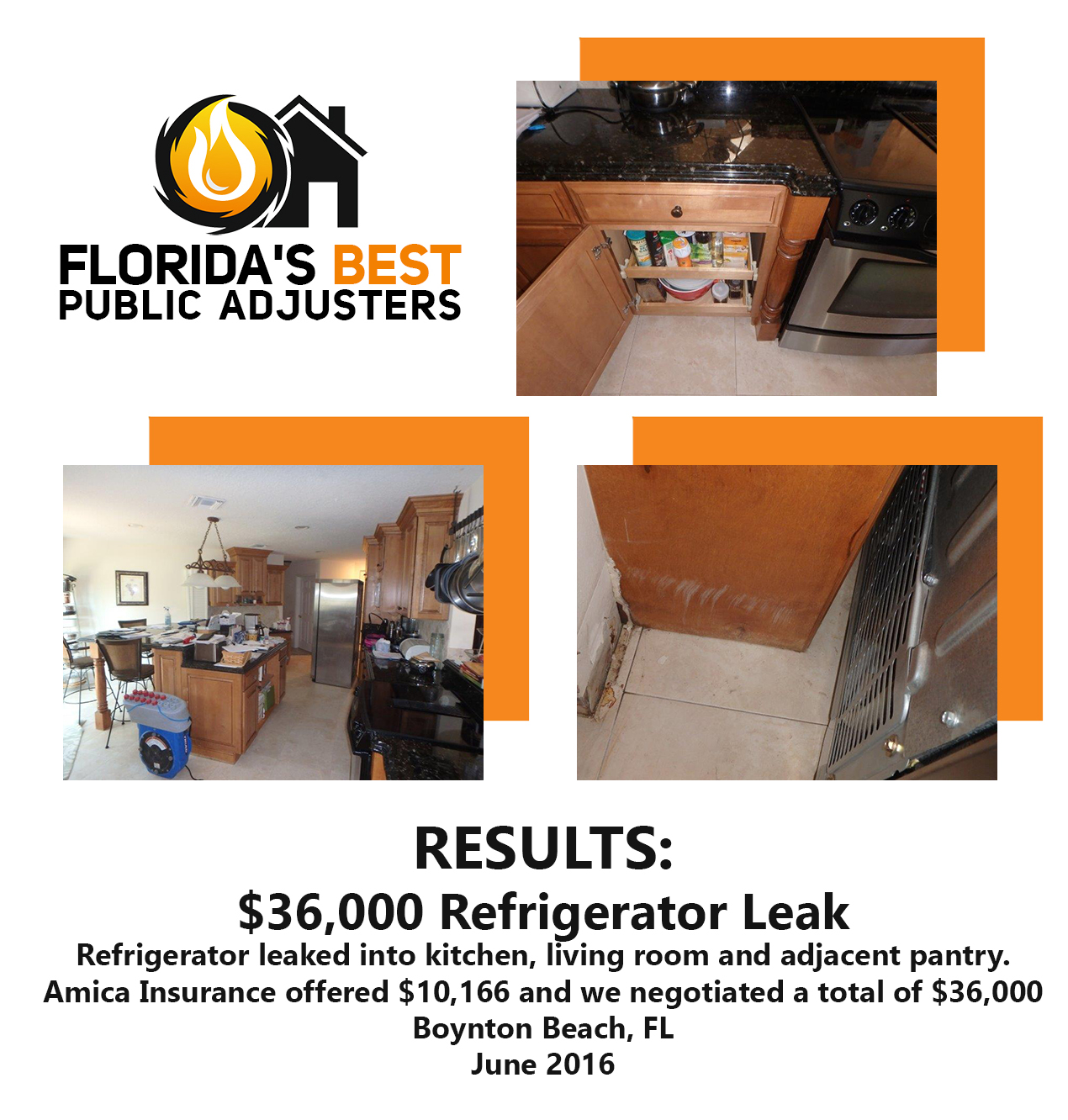 Refrigerater leak Boynton Beach