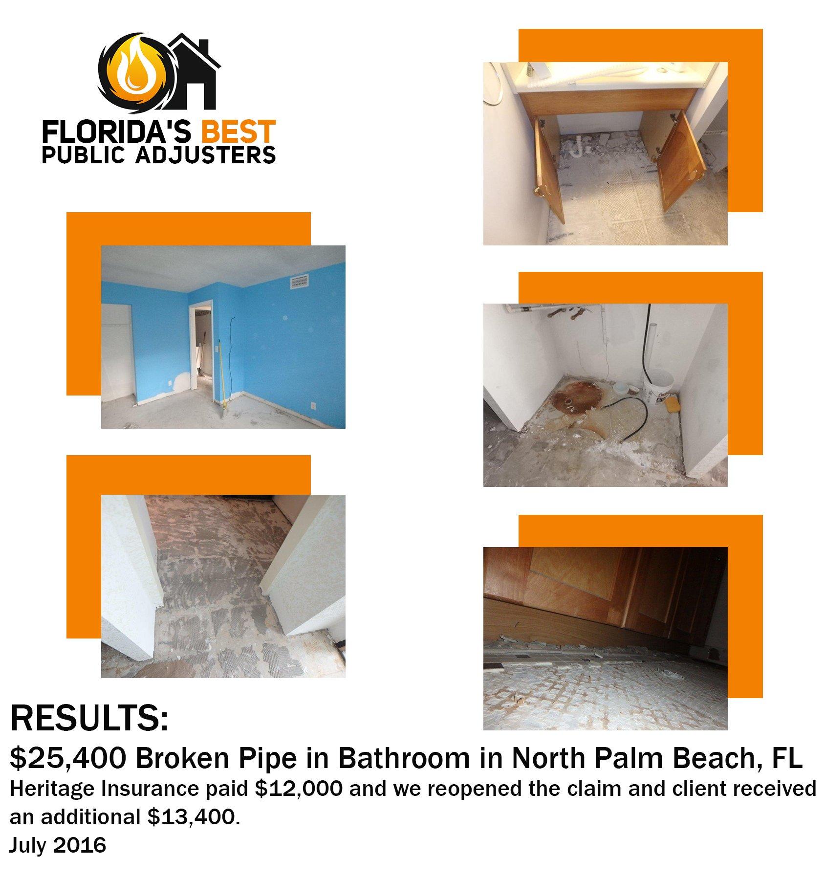 Broken Pipe North Palm Beach