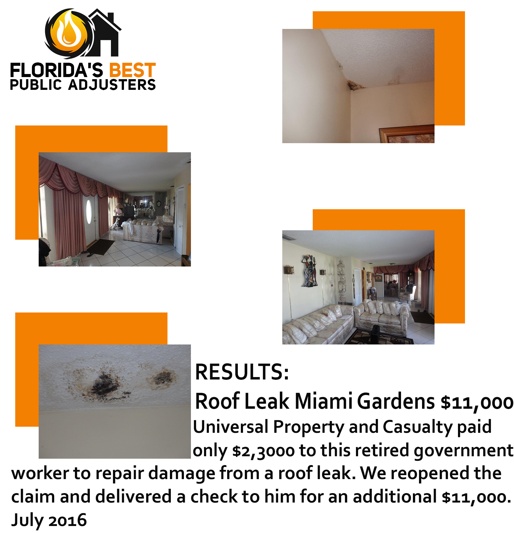 Roof Leak Miami Gardens August