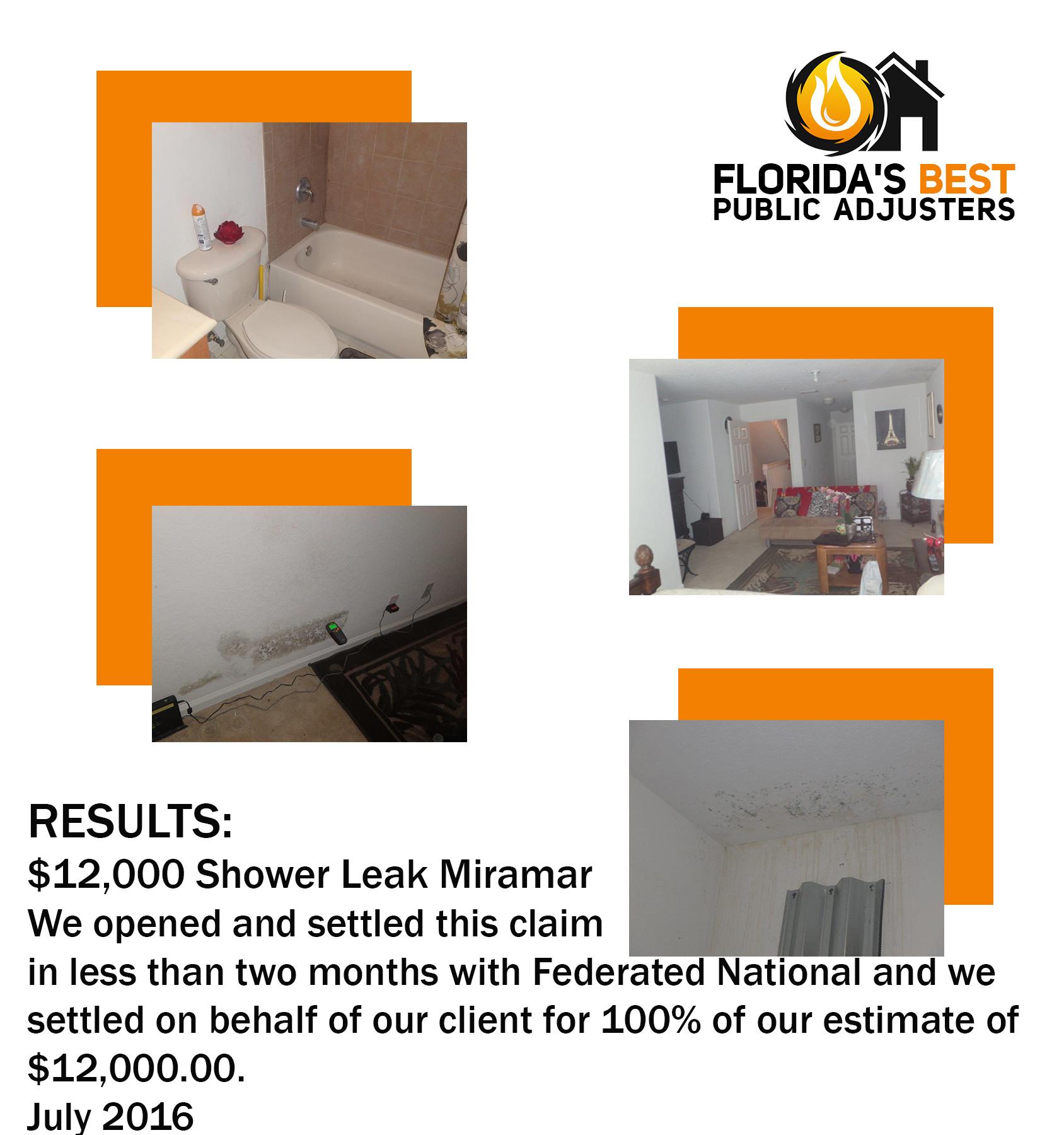 Shower leak Miramar August
