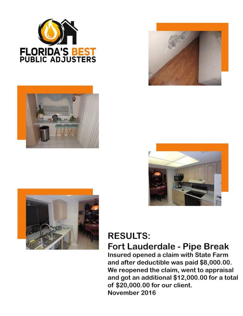Fort Lauderdale Pipe Break Claim