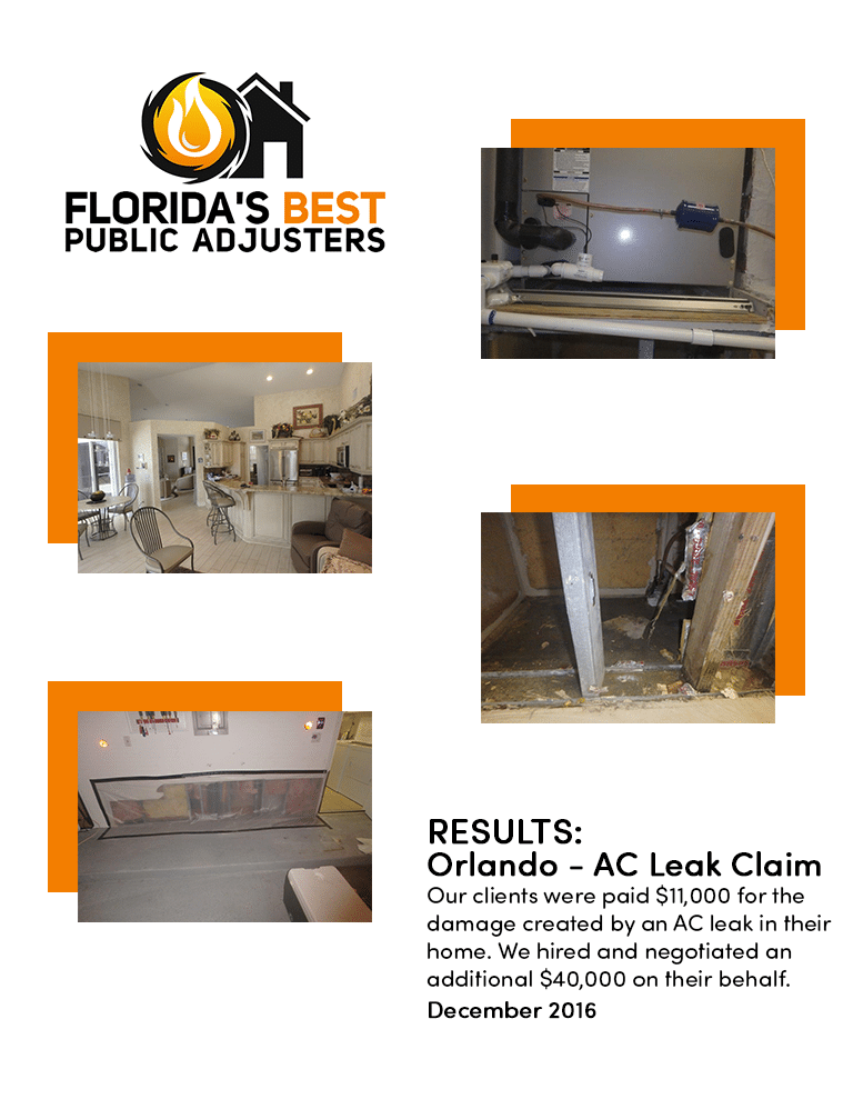 $40,000 AC Leak Claim South Florida