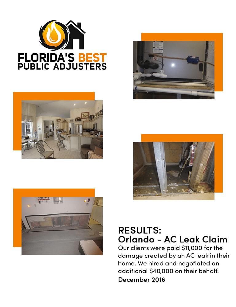 $40,000 AC Leak Claim South Florida
