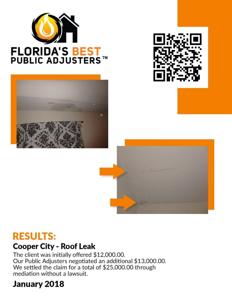 Cooper City Roof Leak Property Damage