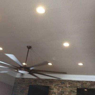 Ceiling fan and water damage