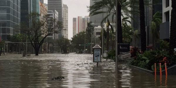 Brickel Miami Flooded