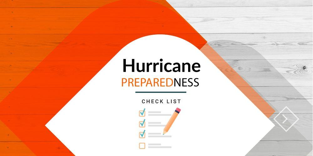 Hurricane preparedness checklist concept image