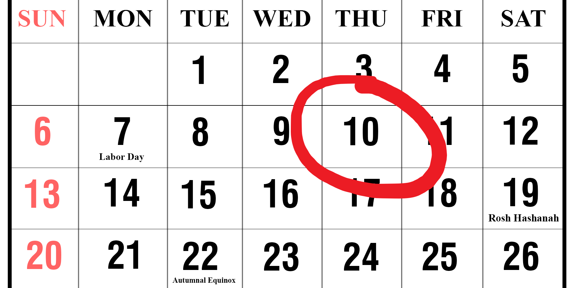 calendar image september 2020