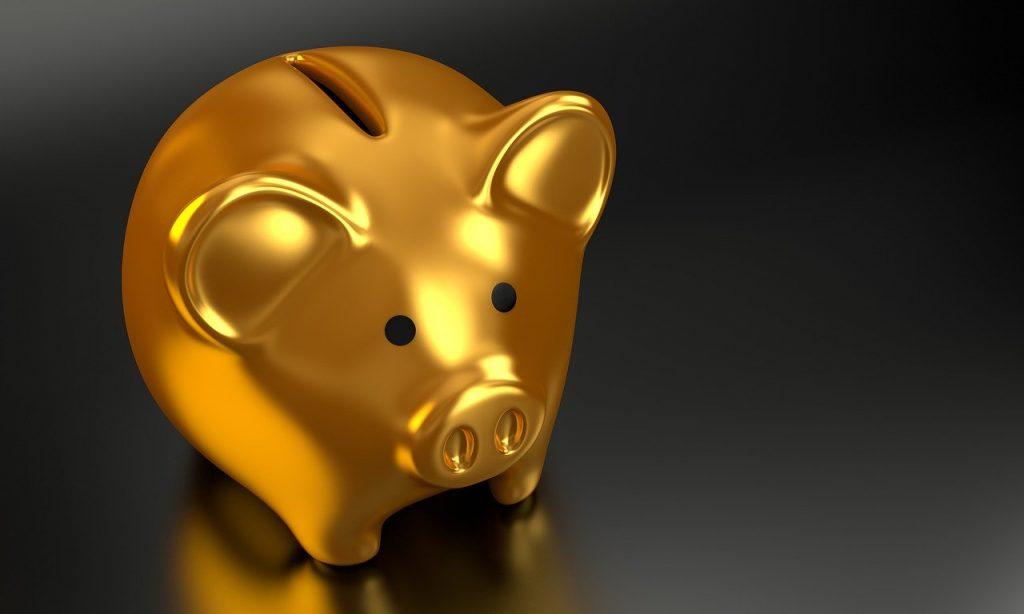 golden piggy bank money